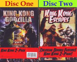 King Kong vs. Godzilla/King Kong Escapes DVD 2-pack, Brand New