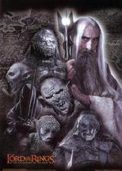 Lord of the Rings: Fellowship of Ring movie poster [Saruman/villains]