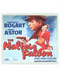 The Maltese Falcon movie poster [Humphrey Bogart & Mary Astor]