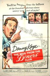 The Man From the Diners' Club poster [Danny Kaye] original one-sheet