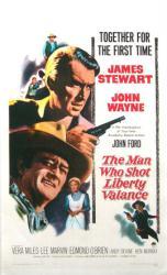 The Man Who Shot Liberty Valance poster [James Stewart/John Wayne]