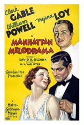 Manhattan Melodrama movie poster /Clark Gable/William Powell/Myrna Loy
