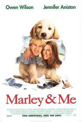 Marley & Me movie poster [Owen Wilson & Jennifer Aniston] one-sheet