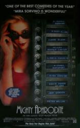 Mighty Aphrodite movie poster [Mira Sorvino] a Woody Allen film
