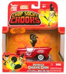Chop Socky Chooks: Motorized Chuckie Chan figure/vehicle (JadaToys)