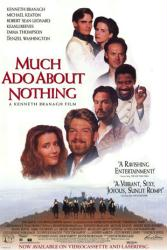 Much Ado About Nothing poster [Kenneth Branagh/Denzel Washington]