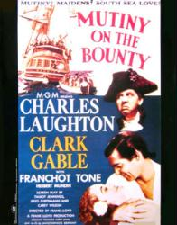 Mutiny On the Bounty movie poster [Charles Laughton/Clark Gable] 1935