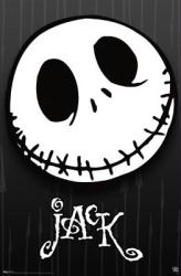 The Nightmare Before Christmas movie poster: Jack Skellington close-up