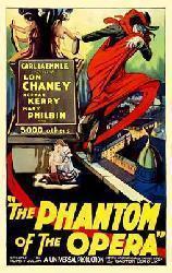 The Phantom of the Opera movie poster [Lon Chaney Sr.] 11'' X 17''