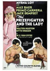 The Prizefighter and the Lady movie poster [Myrna Loy & Max Baer] 1933