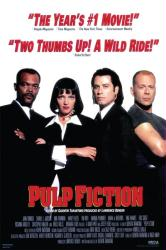 Pulp Fiction movie poster [Samuel L Jackson/Uma Thurman/John Travolta]
