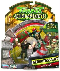 TMNT Mini Mutants Aerial Assault: Raph & Hun figures (Playmates/2008)