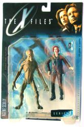 X Files Fight the Future: Agent Scully & Alien figure (McFarlane/1998)
