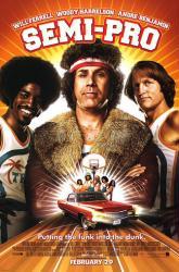 Semi-Pro movie poster [Will Ferrell/Woody Harrelson/Andre Benjamin] NM