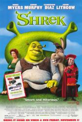 Shrek movie poster (2001) original video poster