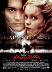 Sleepy Hollow movie poster [Johnny Depp & Christina Ricci] NM