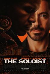 The Soloist movie poster [Jamie Foxx & Robert Downey Jr.]