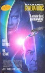 Star Trek: Generations movie poster [William Shatner/Patrick Stewart]