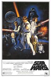 Star Wars movie poster [Mark Hamill & Harrison Ford] 24'' X 36''