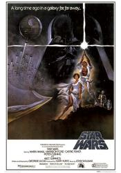 Star Wars movie poster [Mark Hamill & Carrie Fisher] 24'' X 36''