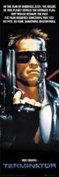 The Terminator movie poster [Arnold Schwarzenegger] 21'' X 62'' Door