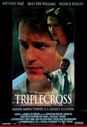 Triplecross movie poster [Michael Pare & Billy Dee Williams]