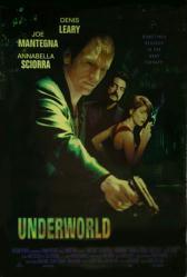 Underworld movie poster [Denis Leary/Joe Mantegna/Annabella Sciorra]