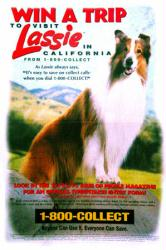 Lassie: Win A Trip to Visit Lassie (1995 Contest Poster) Good