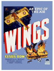 Wings movie poster (1927) [a William A. Wellman film] 18'' X 24''