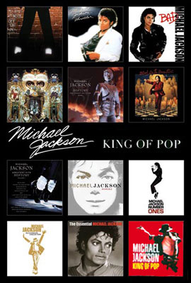 Michael Jackson Poster King Of Pop Album Covers Collage 24 X 36