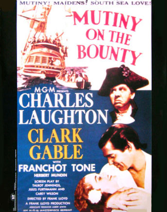 MUTINY ON THE BOUNTY MOVIE POSTER 1935 Clark Gable 2