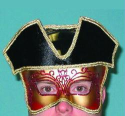 Mask Mardi Gras French Captain Carnivale Mask