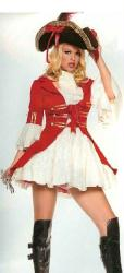 Lady Pirate Captain Hook Costume Overcoat Dress