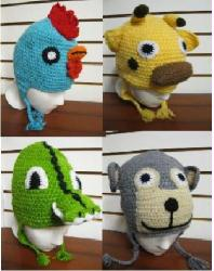 KNITTED ANIMAL HATS-6PACK