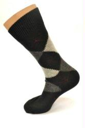 Argyle Alpaca Socks - 12 Pack