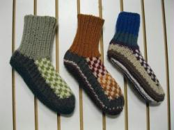THICK KNITTED SLIPPERS - 3PACK