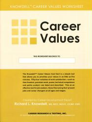 Career Values Worksheets (Knowdell)