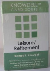 Leisure & Retirement Card Sort (Knowdell) - cards