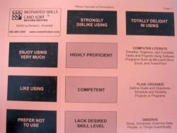Motivated Skills Card Sort (Knowdell) - original version