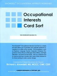 Occupational Interests Worksheets (Knowdell)