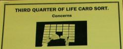 Third Quarter of Life Concerns Card Sort