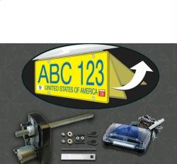 Retractable Hidden License Plate Kit
