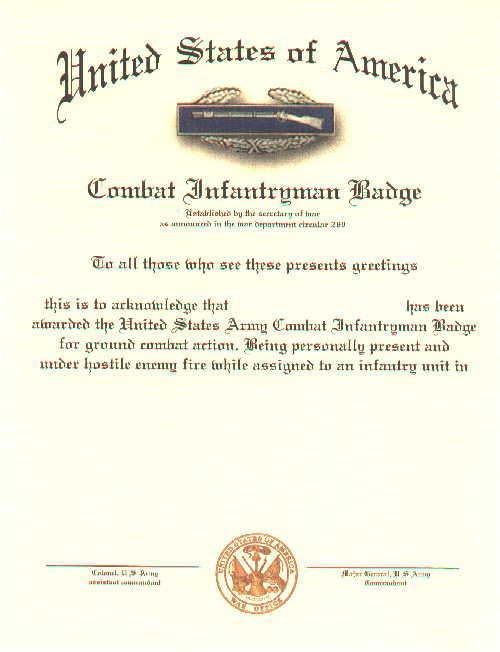 Military Certificates