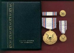 SOLD OUT-Army Distinguished Civilian Service Award medal cased set with mini, ribbon bar and lapel pin