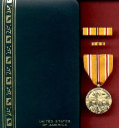 WWII Asian Pacific Theator of Operations Military Award Medal in Case with ribbon bar and lapel pin
