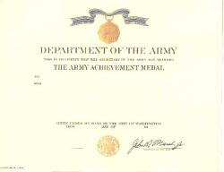 Army Achievement