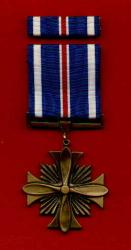Distinguished Flying Cross medal with ribbon bar DFC