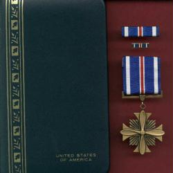 Distinguished Flying Cross medal in Case with ribbon bar and lapel pin