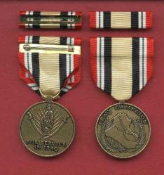 US Iraq Campaign medal with ribbon bar