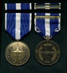 NATO Kosovo medal with ribbon bar